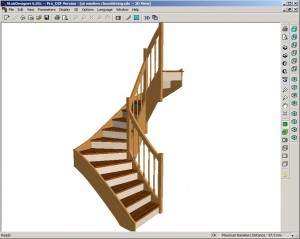 3d view of finished stairs