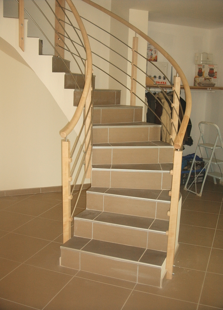 Round Hand Rails On A Cement Stair