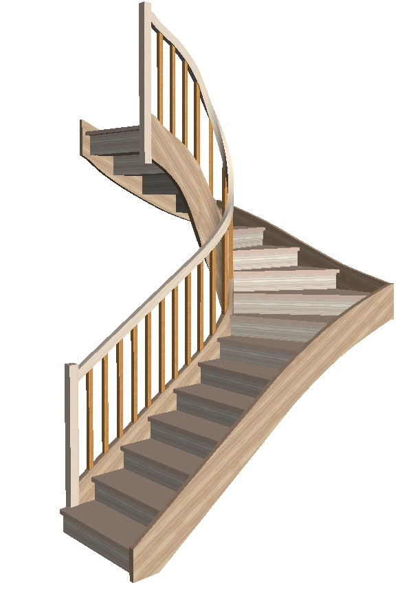 3D Stair Designed with StairDesigner