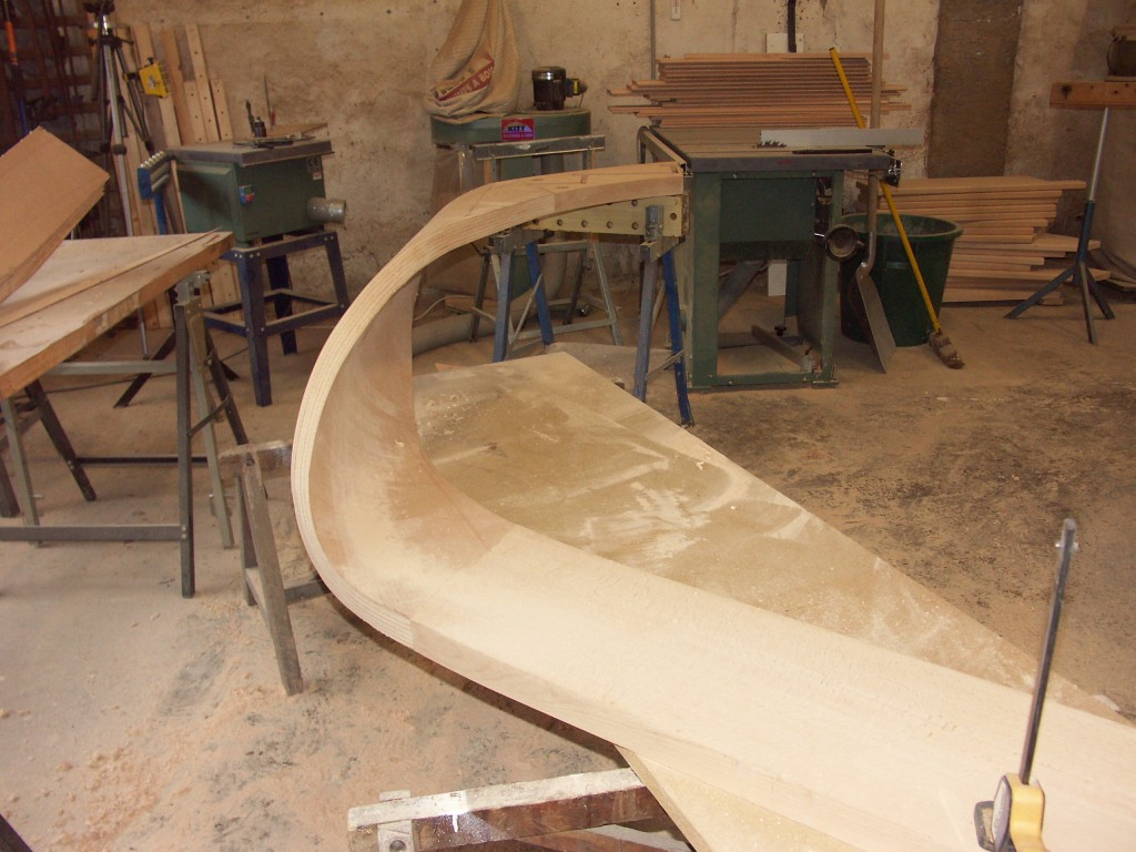String assembled and edges cut to receive veneers