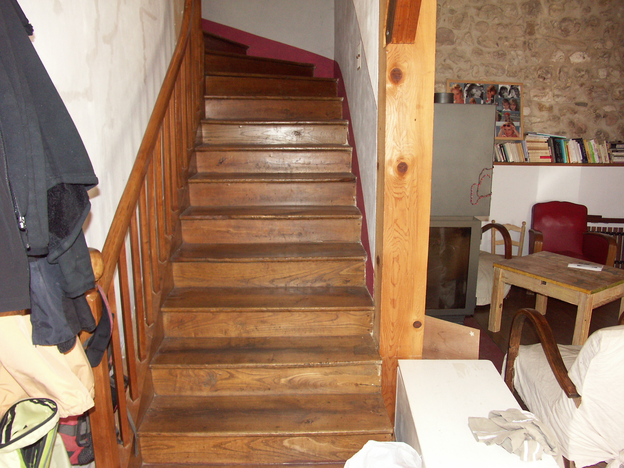 Old Stair in a French Farm House