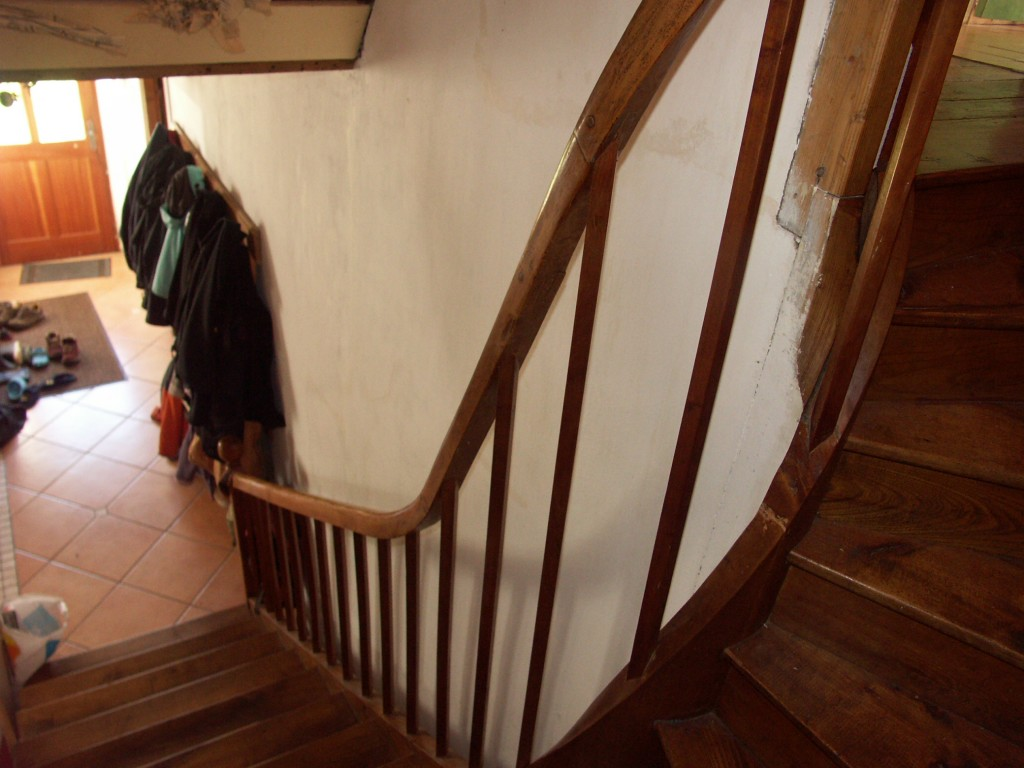 Farm house stair from the turning