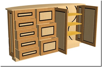 building curved cabinets