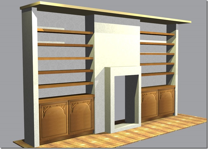 building alcove shelves