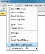 manufacturing methods menu