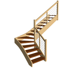 Quarter Turn Open Plan stair