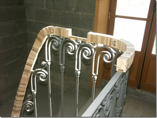 wreathed handrail