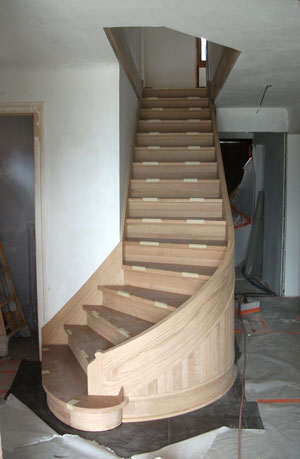 building a curved staircase