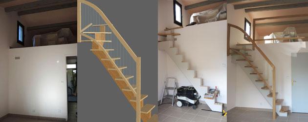 quarter turn stair header