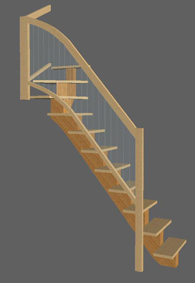 quarter turn staircase design