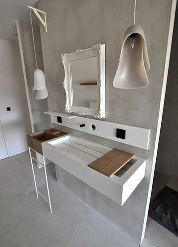 corian bathroom and wash basin