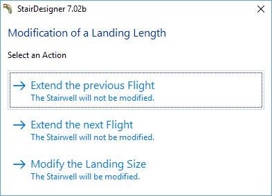 StairDesigner landing step function