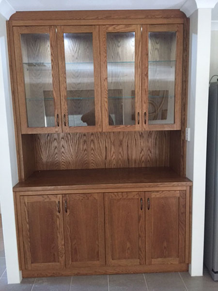 oak hutch built in Polyboard