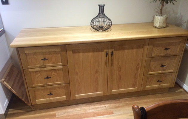 oak sideboard built in Polyboard