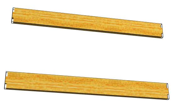 Polyboard tenon split