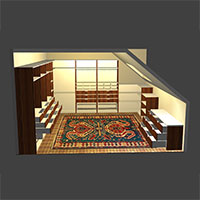 Polyboard walk in wardrobe