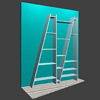 Polyboard delta shelves model