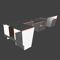 Polyboard office desks model