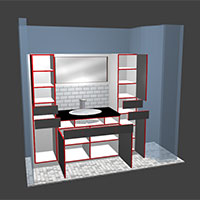 Polyboard bathroom model