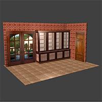 Polyboard framed bookcase model