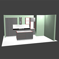Quick Design Kitchen in Polyboard