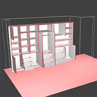 Polyboard nested shelving model