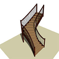 Quarter Turn Curved stair