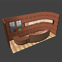 Polyboard reception desk model