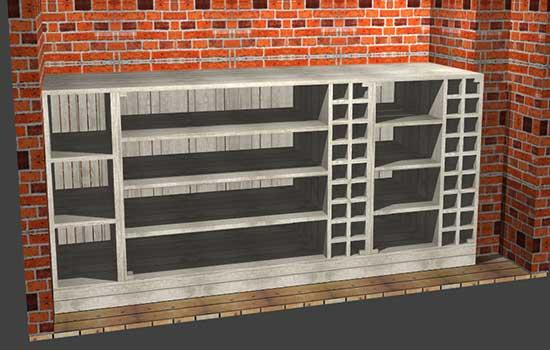 Polyboard storage units