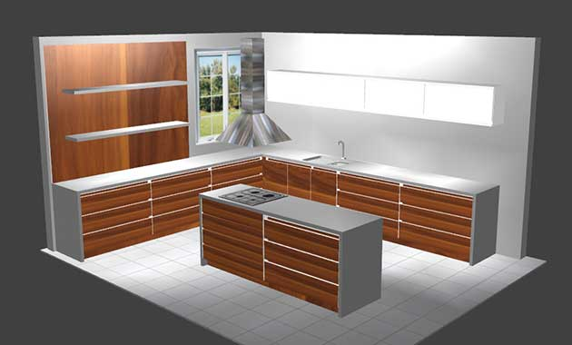 Wood designer stair and furniture design software Kitcad kitchen design software