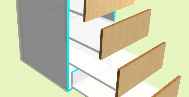 How to make drawers in Polyboard
