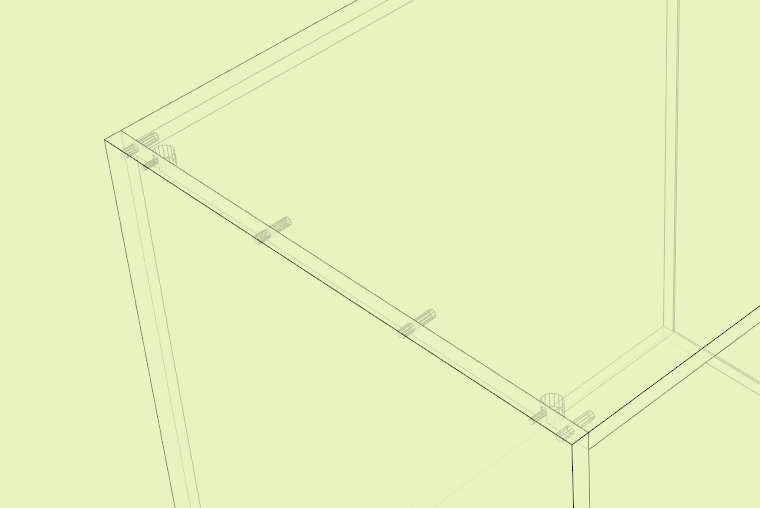 Applying several hardware fitting to a joint