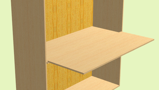 Adding a sliding shelf to a cabinet designed with Polyboard