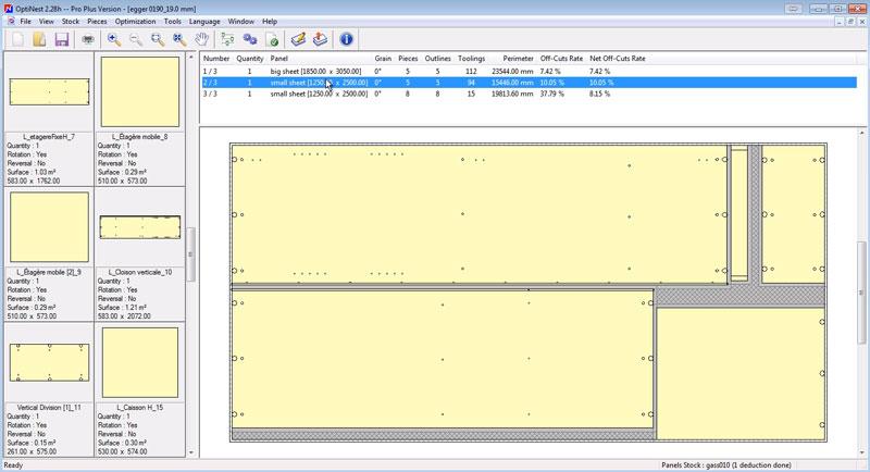 optinest's nesting map optimised for production