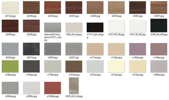 Polyboard textures library