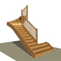 Variable width stair design