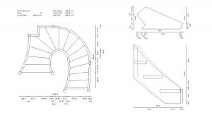 StairDesigner plans with complex shape management