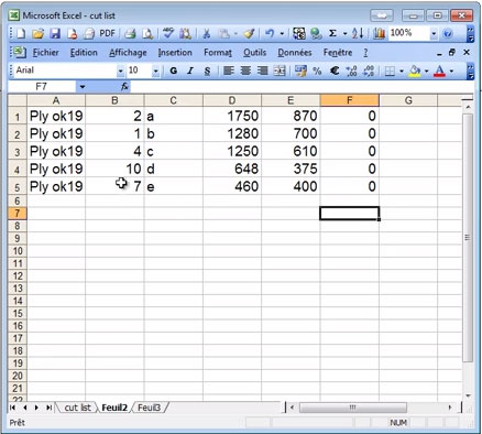 OptiCut Cutting List Set Up (Spreadsheet Import) | WOOD DESIGNER