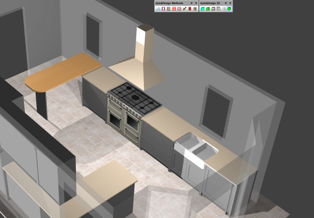 Screenshot of kitchen from Polyboard software