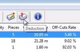 opticut stock deduction button