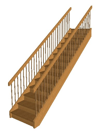 calculate stairs in 3D
