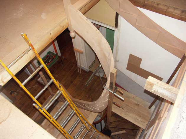 Installing a stair in a small space has to be thought out in the design phase