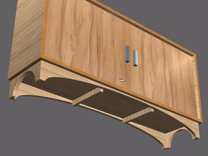 plinth with tooling in polyboard