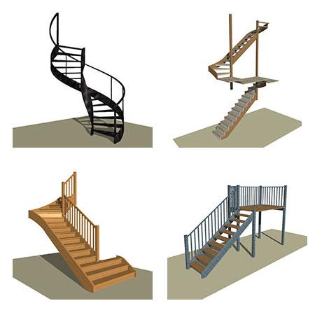 4 stairs designed in stairdesigner