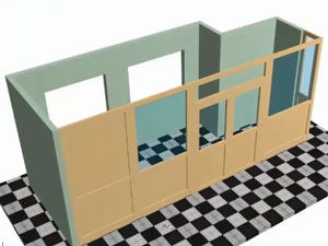 office partitions using design software