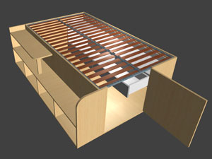 Under bed storage design software