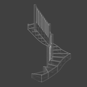 3d wireframe stair