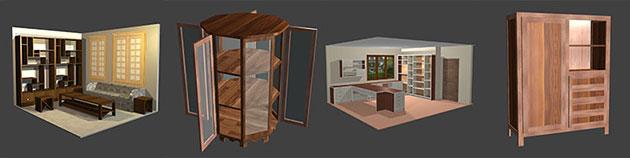 Polyboard cabinet models