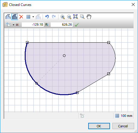 polyboard curve editing feature