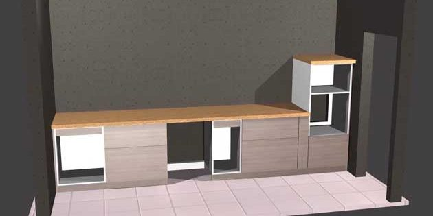 cnc kitchen design with polyboard